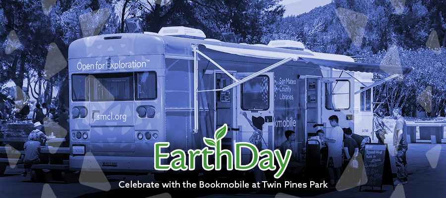 Bookmobile at Earth Day Celebration