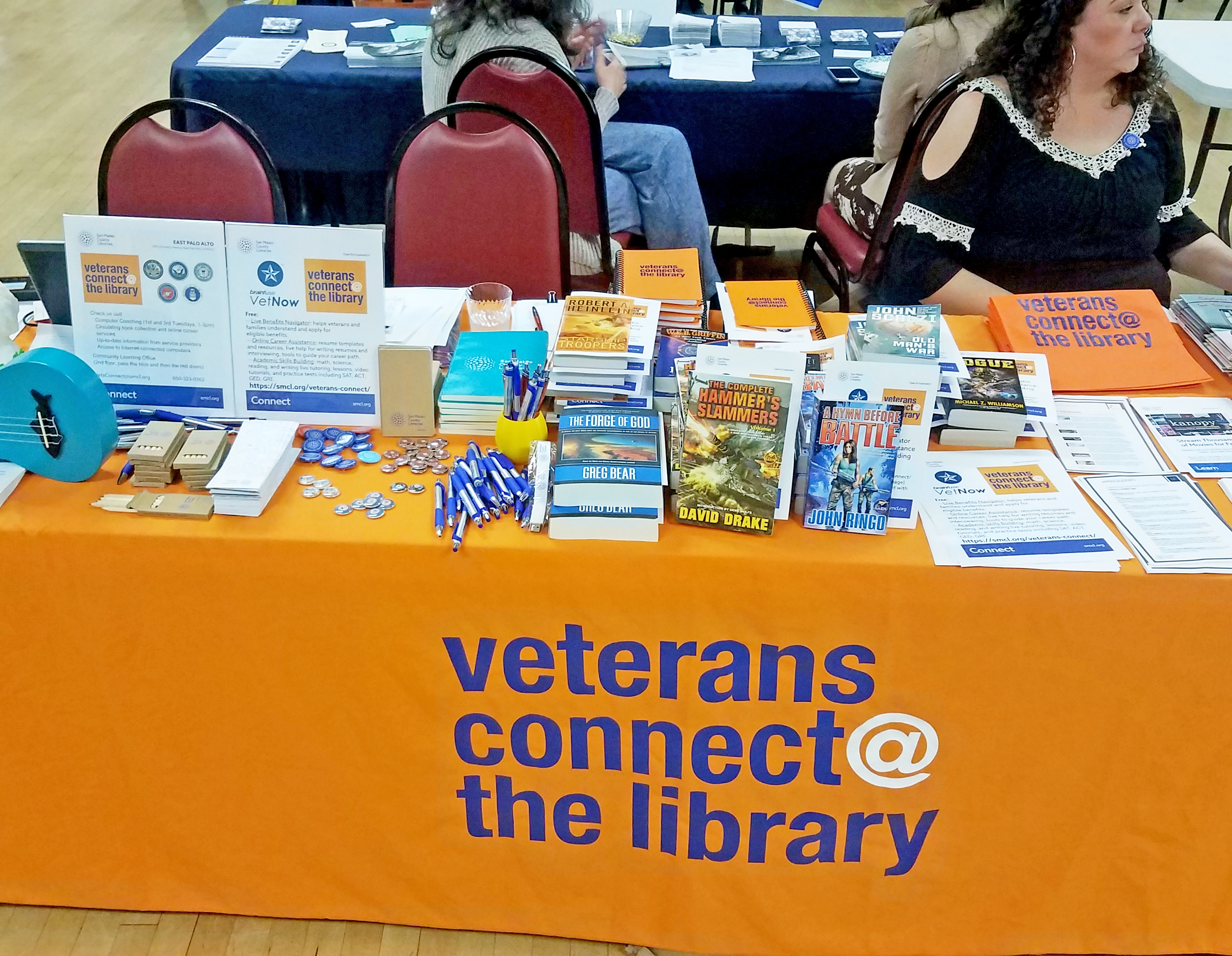 Veterans Connect at the East Palo Alto Library.