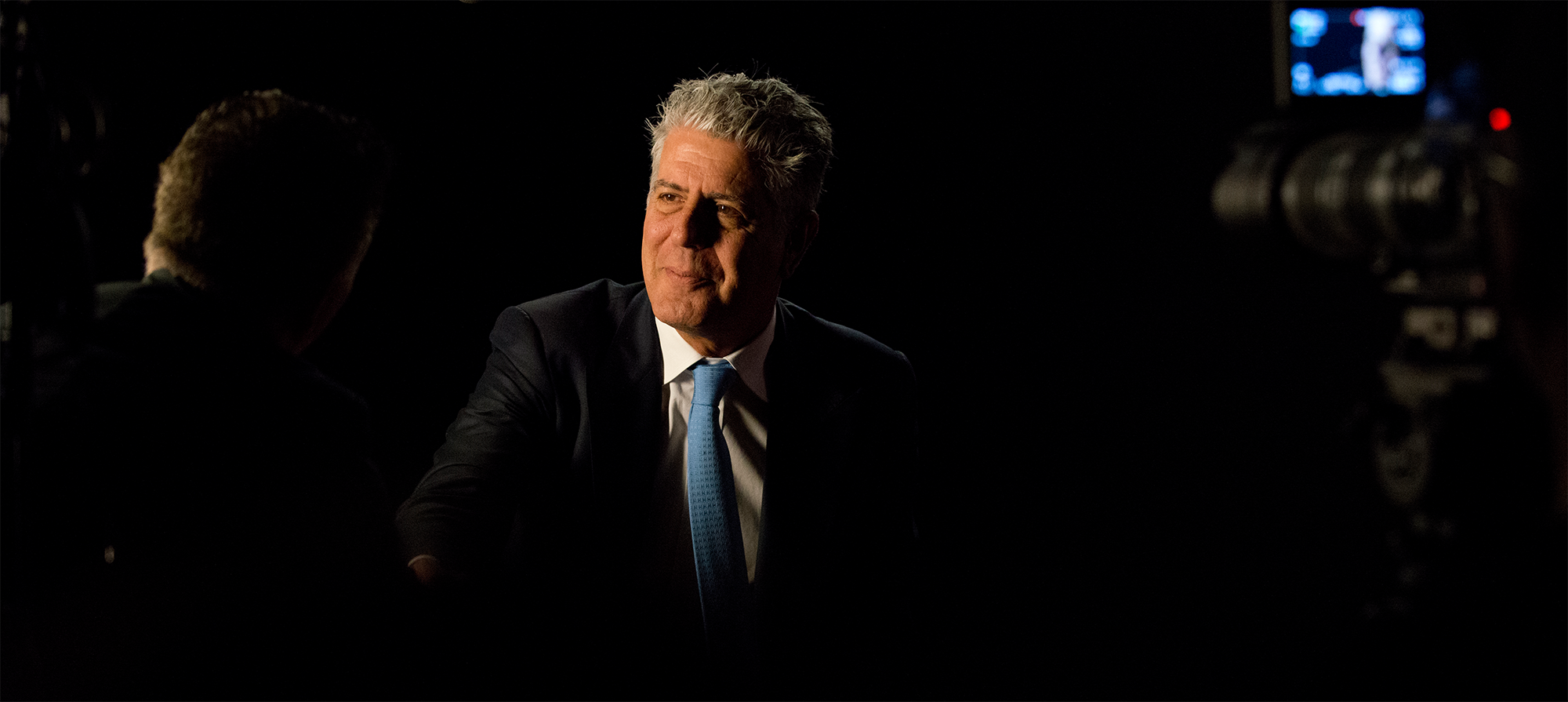 "Anthony Bourdain during the Peabody interview for ""Parts Unknown""."
