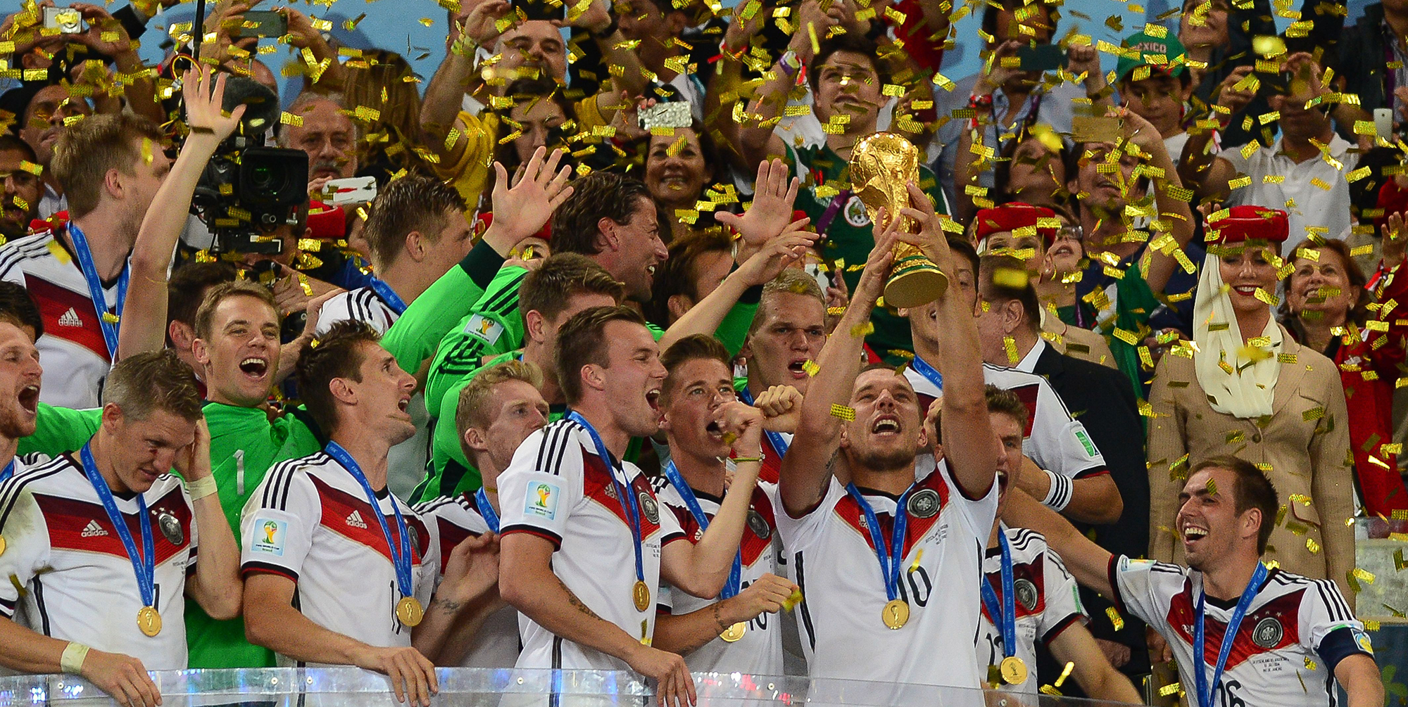 Germany lifts the 2014 FIFA World Cup after beating Argentina 1-0.
