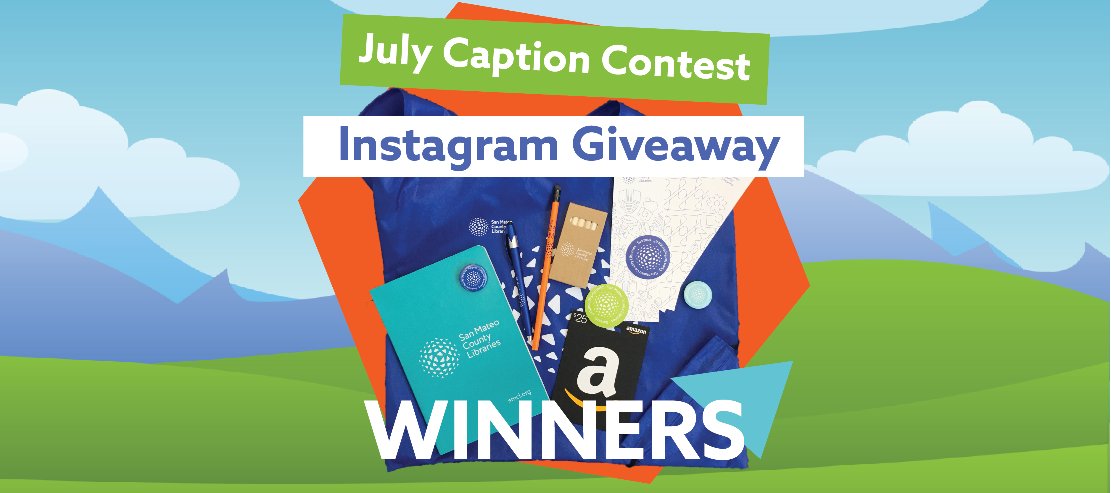 July Caption Contest Instagram Giveaway Winners