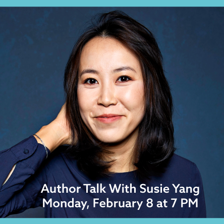 Susie Yang Author Photo and White Ivy Book Cover