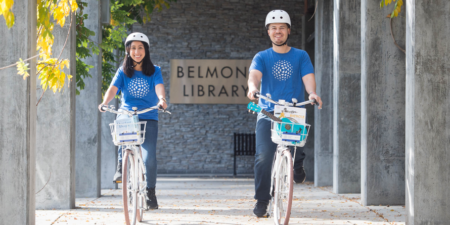 Book-A-Bike Is Back at the Belmont Library