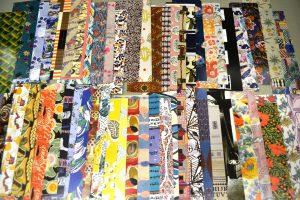 A sampling of the various endpaper designs