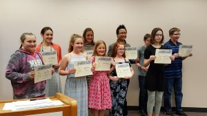 Virginia Frank Writing Contest Winners
