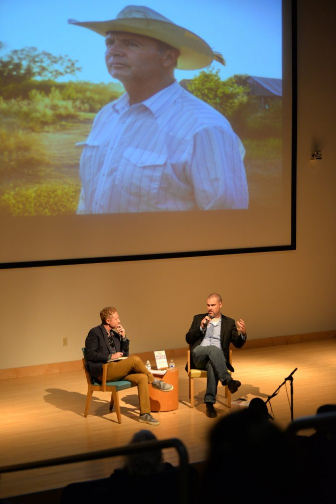 2019 Omaha Reads author Ted Genoways visited for a discussion about his book at The Durham Museum