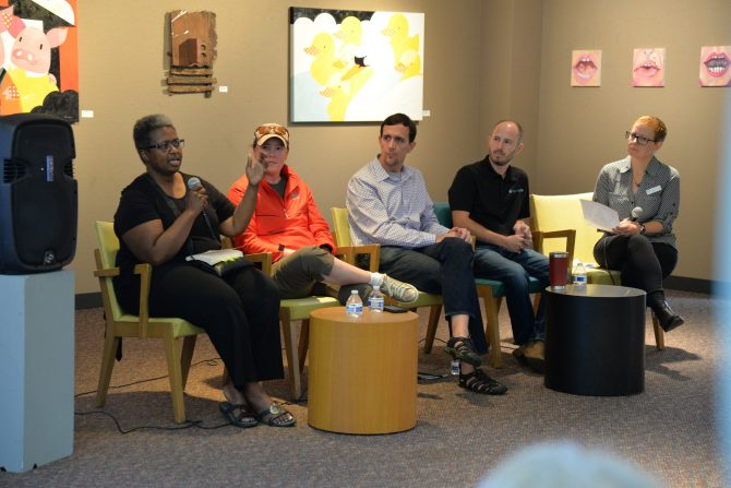 2019 Omaha Reads panel discussion on Farming, Natural Resources, and You at Main Library