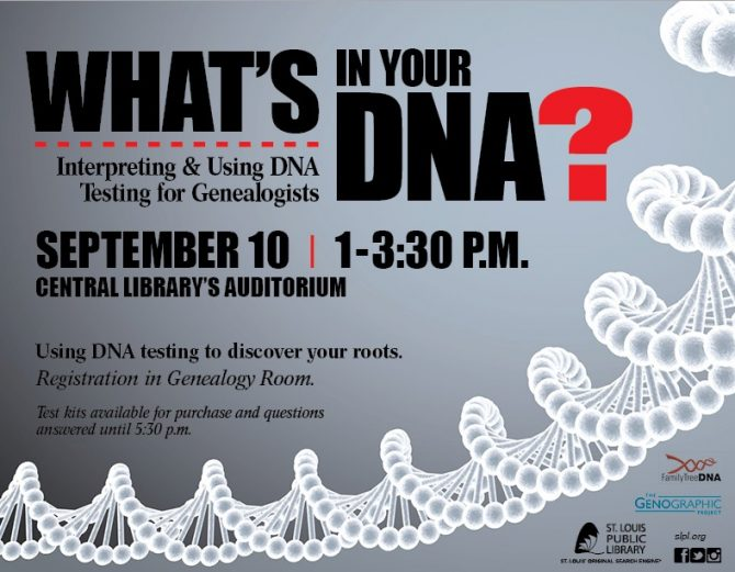 What's in Your DNA, September 10, 2016