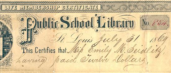 Public School Library Membership Certificate
