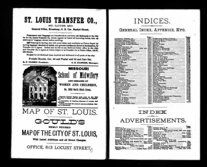 St. Louis City Directory, 1891