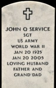 example of Government headstone