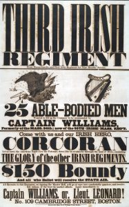 3rd Irish Regiment recruiting poster