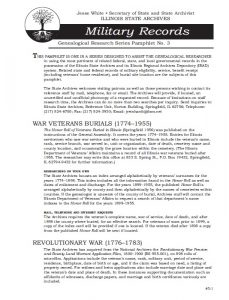Military Records pamphlet