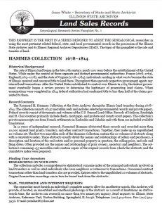 Land Sales pamphlet