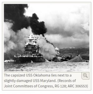 USS Oklahoma capsized after attack