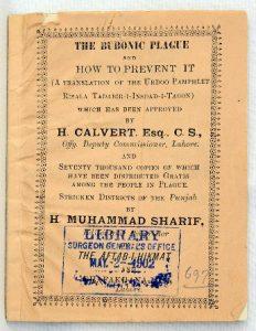 Bubonic Plague pamphlet