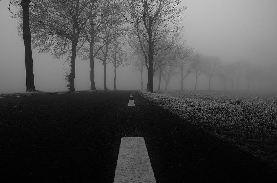 dark winter road