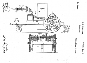 Image of steam plow patent
