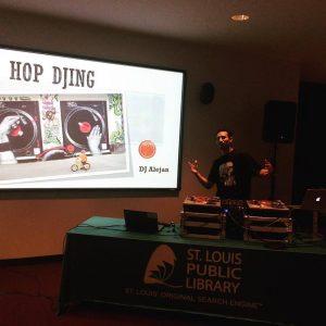 DJ Alejan spinning records