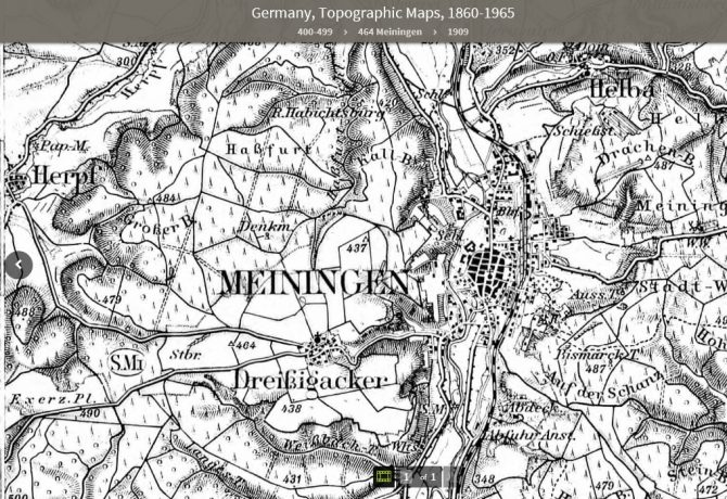 Germany, Topographic Maps, 1860-1965 | St. Louis Public Library