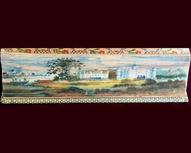 Fore-edge Painting on An Anthology of Modern Verse