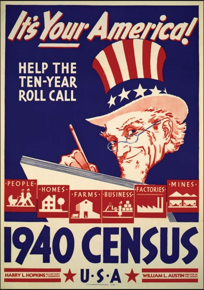 1940 Census Bureau poster (Library of Congress collection)