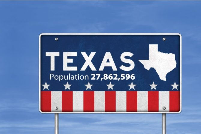 Texas population sign (Census.gov collection)