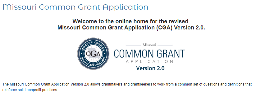 """MO Common Grant App & a few """"Save the Dates"""" (GFC"""