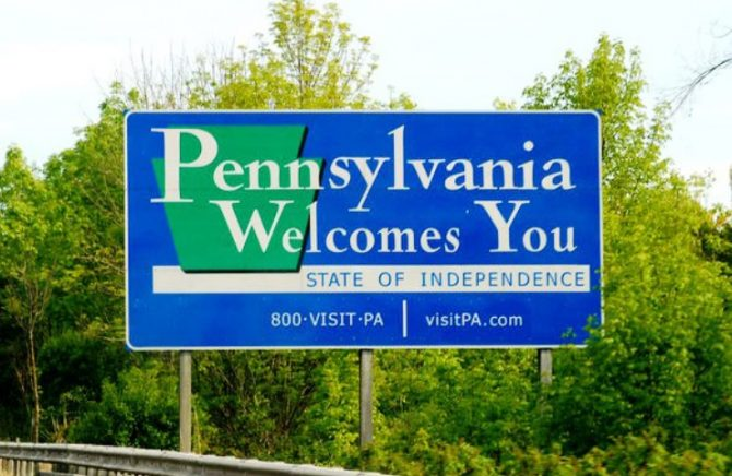 Pennsylvania Welcomes You! sign (PA.gov photo)