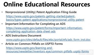 slide of Online Educational Resources