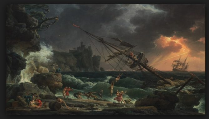 Shipwreck by Claude-Joseph Vernet (National Gallery of Art photo)