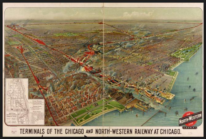 Terminals of the Chicago and Northwestern Railroad (loc.gov photo)