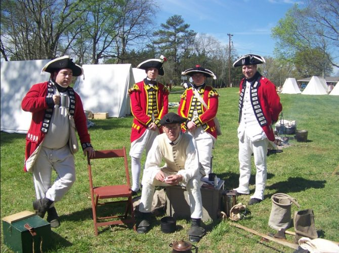 Loyalist reenactors (NPS.gov photo)