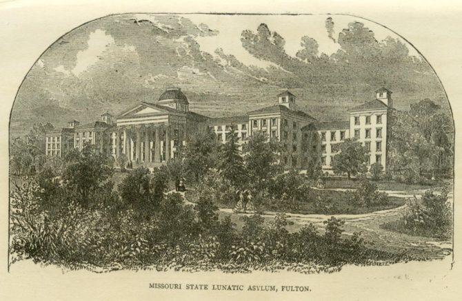 Missouri State Lunatic Asylum at Fulton ca. 1875 (sos.mo.gov)