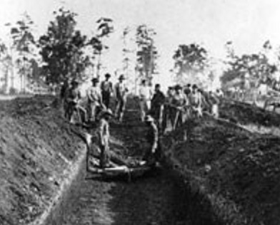 Mass grave at Andersonville Prison (NPS.gov photo)