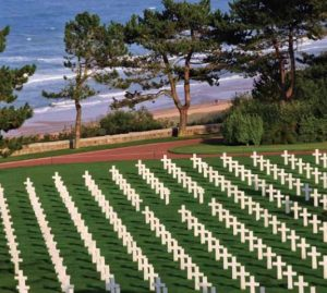 Rows of crosses at Normandy American Cemetery in France (ABMC.gov photo)