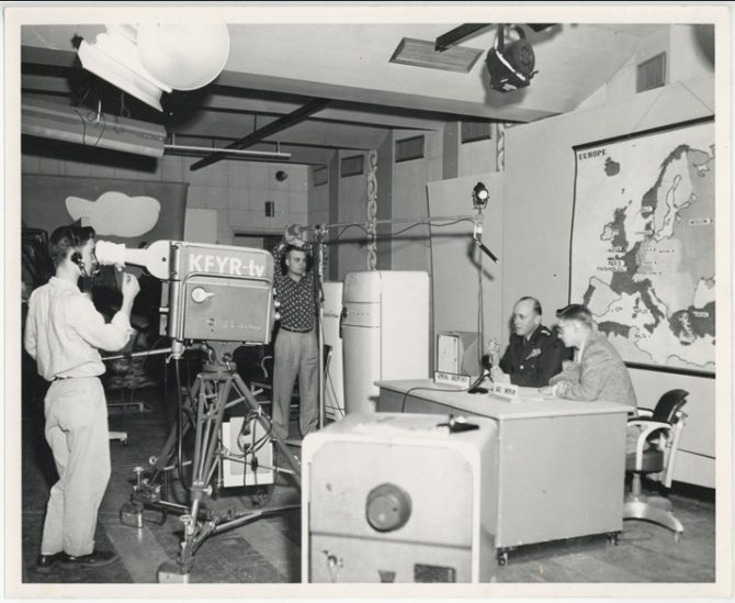 Early TV studio in Bismarck, North Dakota (ND.gov photo)