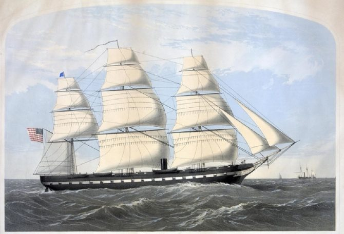 Civil War Frigate USS Wabash (Archives.gov photo)
