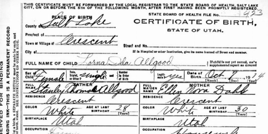 Certificate of Birth