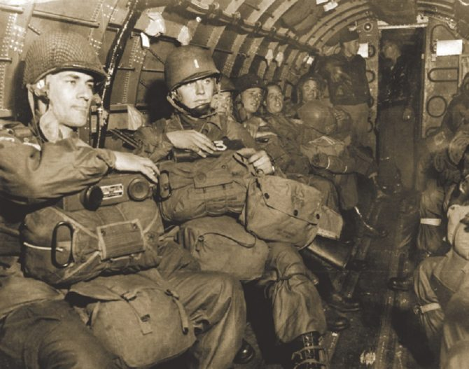 Army soldiers ready to parachute into the Netherlands (ABMC.gov photo)
