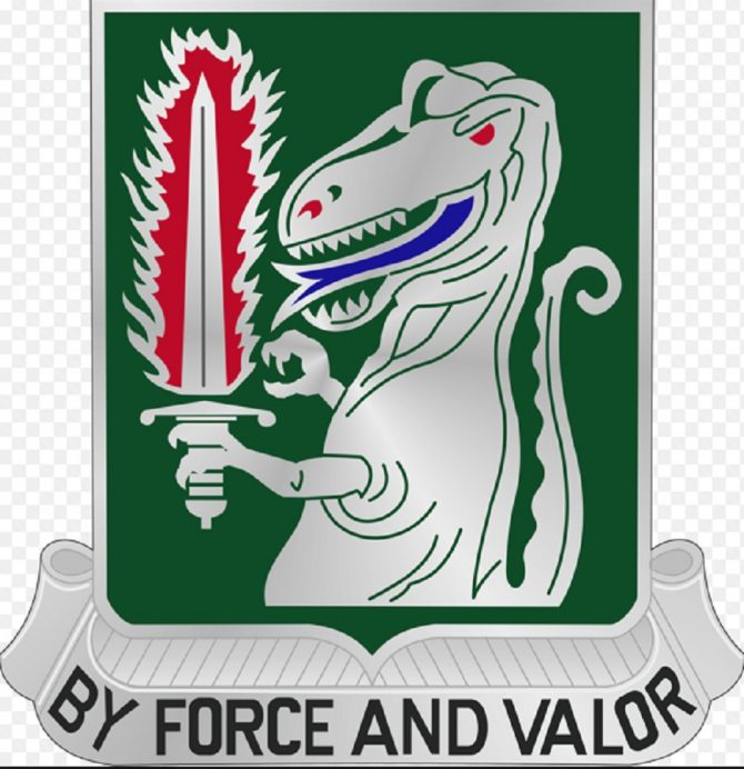 Coat of arms of the 40th U.S. Cavalry Regiment (Army.mil photo)