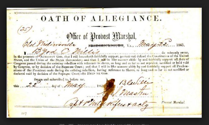 Oath of Allegiance (LVA.Virginia.gov photo)
