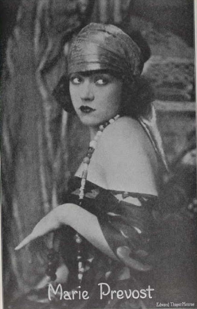 Silent film star Marie Prevost