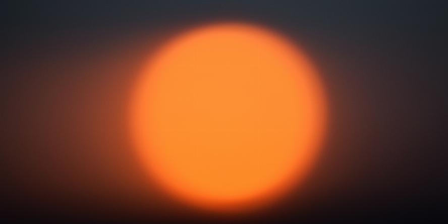 Image of fading sun