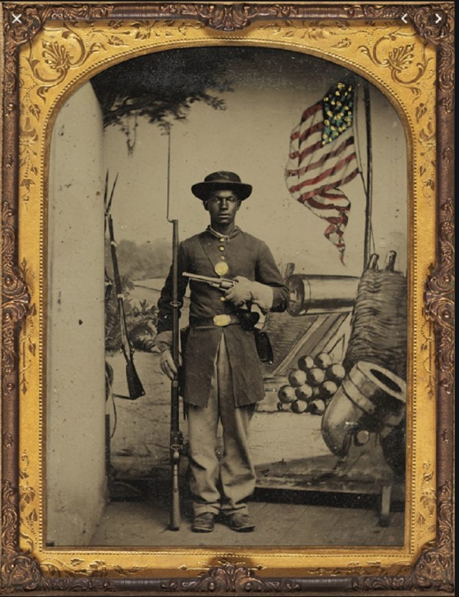 Member of the U.S. Colored Troops (LOC.gov photo)