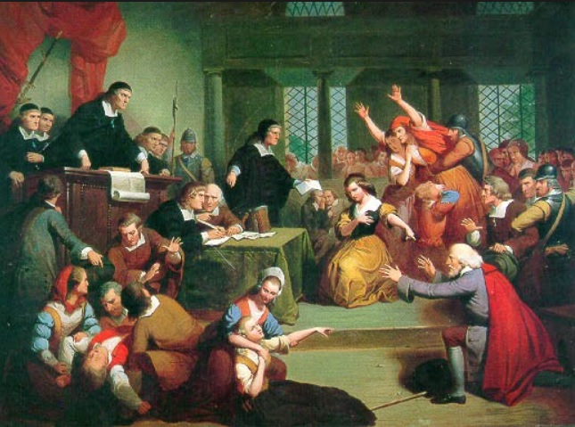 Witch trial proceedings (MA.gov photo)