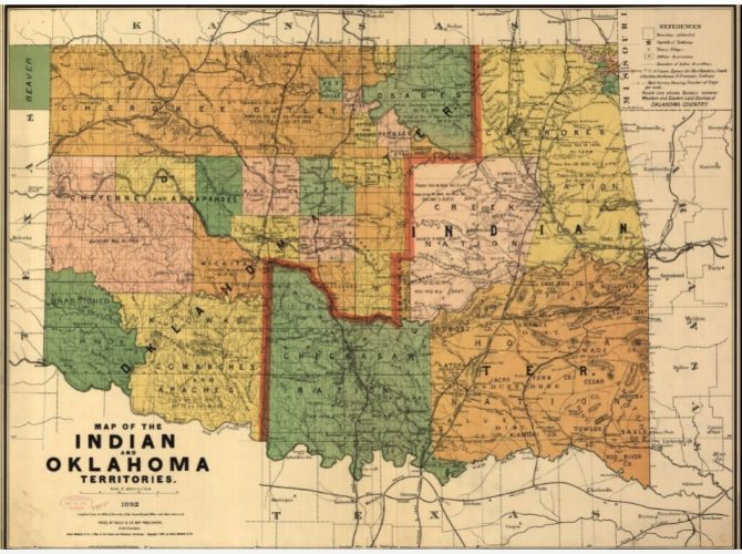 Map of Indian and Oklahoma Territories (LOC.gov map)