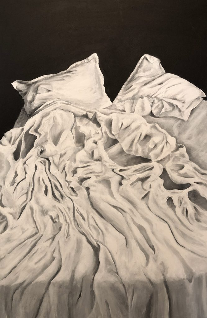 Ode to A Bed, oil on canvas ,2021