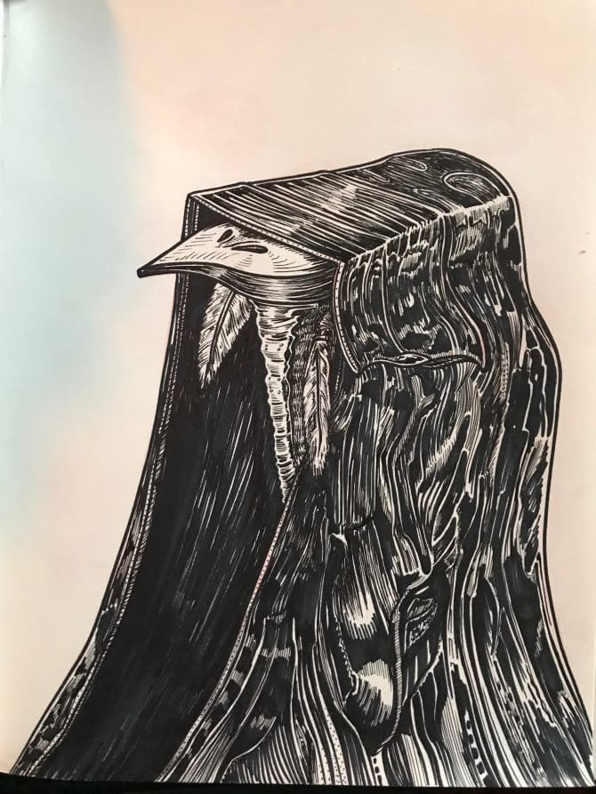 Cover Bird - Ink on Paper - 2019