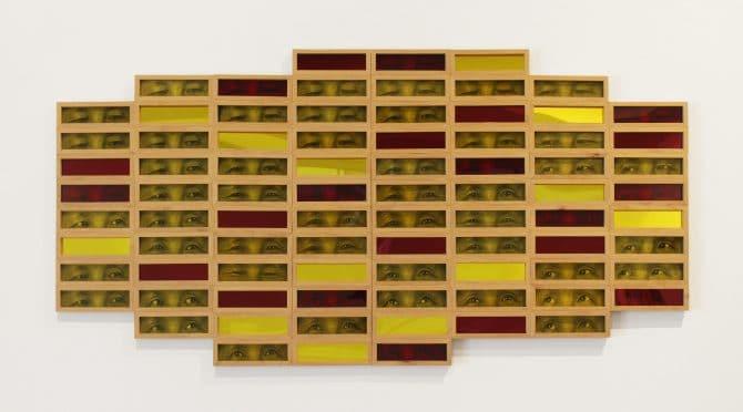 A symptom of (spitting image)  Inkjet prints on paper, acrylic, mirrored acrylic, wood 2020